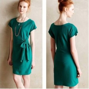 Emerald Green Anthro Saturday Sunday Ribbed Dress